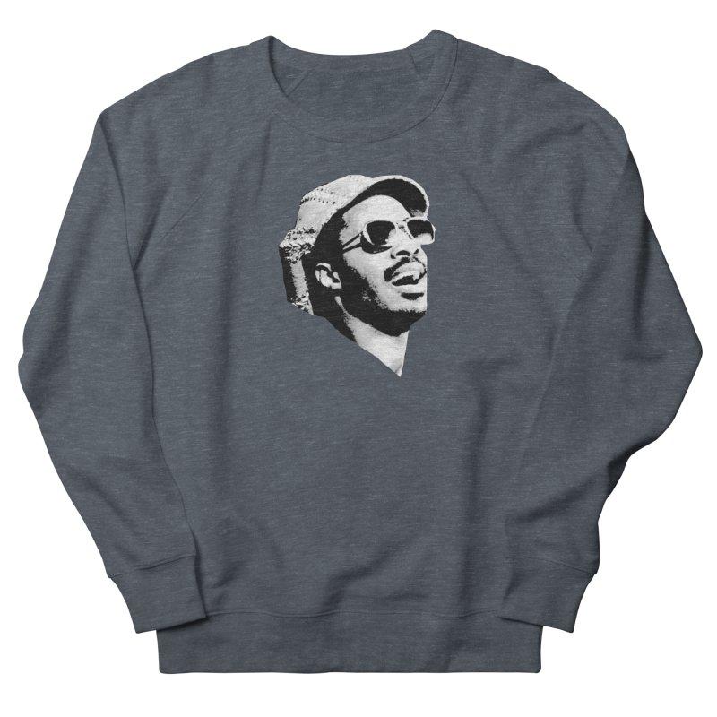 Stevie Wonder Men's French Terry Sweatshirt by Sam Shain's Artist Shop