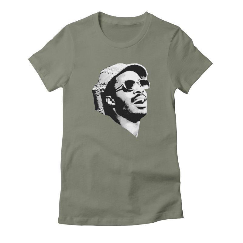 Stevie Wonder Women's T-Shirt by Sam Shain's Artist Shop