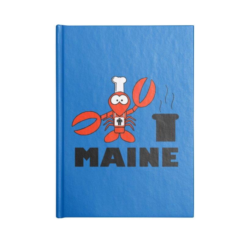 Maine! Accessories Blank Journal Notebook by Sam Shain's Artist Shop