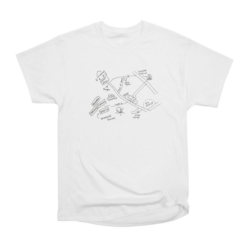 Map to Schrute Farm Men's Heavyweight T-Shirt by Sam Shain's Artist Shop