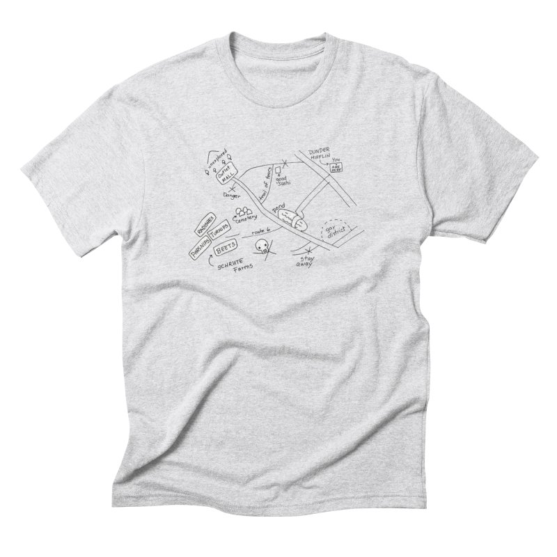 Map to Schrute Farm Men's Triblend T-Shirt by Sam Shain's Artist Shop