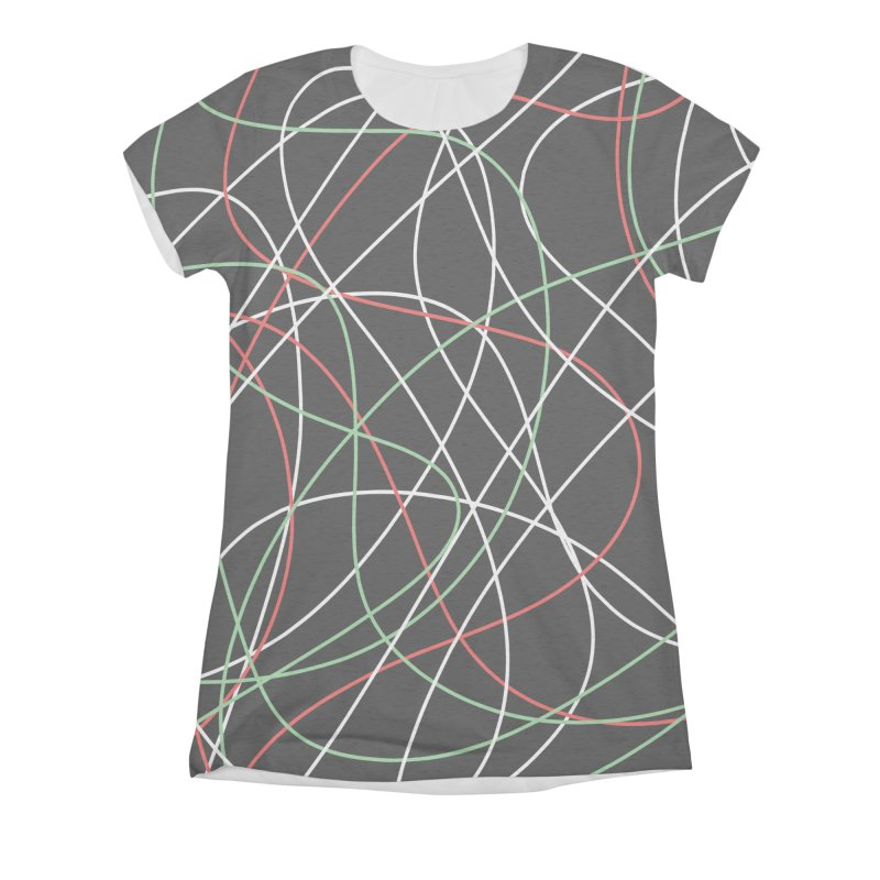 String Women's Triblend All Over Print by Sam Shain's Artist Shop
