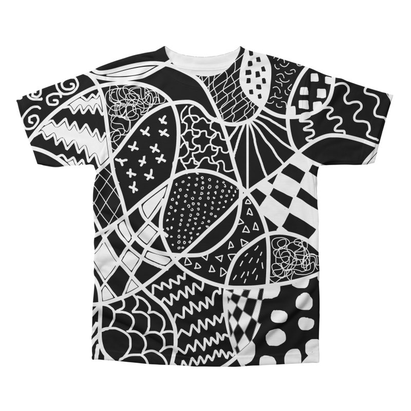 Black and White Men's Regular All Over Print by Sam Shain's Artist Shop