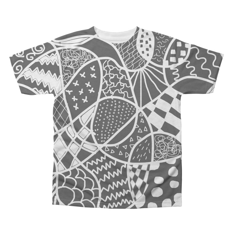 Black and White Men's Triblend All Over Print by Sam Shain's Artist Shop