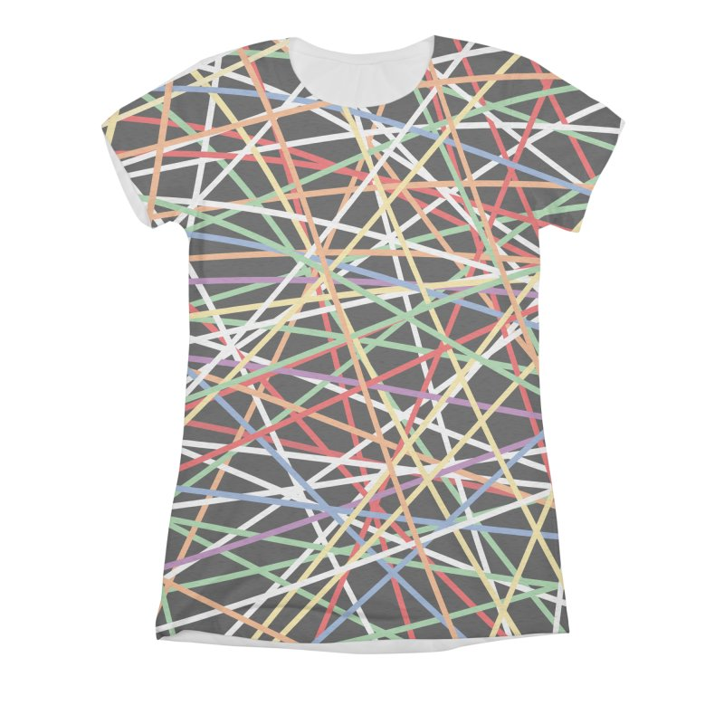 Pick Up Sticks Women's Triblend All Over Print by Sam Shain's Artist Shop