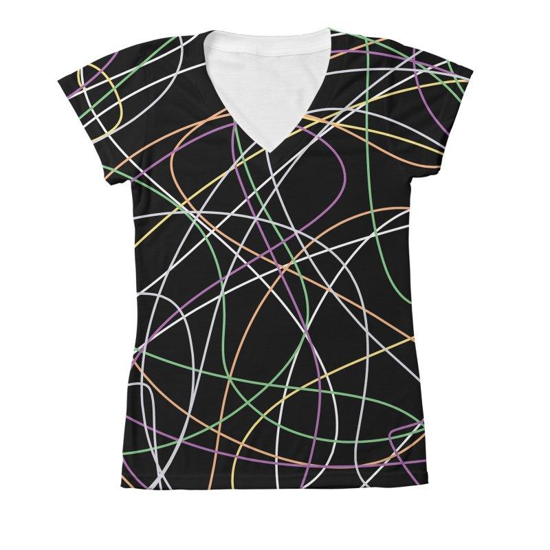String II Women's V-Neck All Over Print by Sam Shain's Artist Shop
