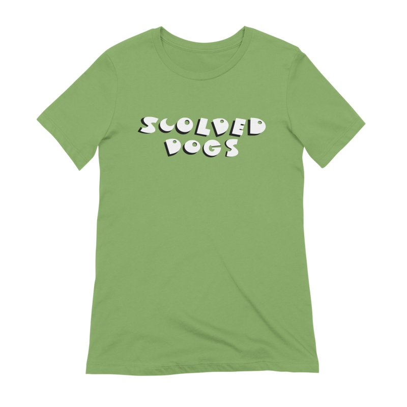 Scolded Dogs Women's Extra Soft T-Shirt by Sam Shain's Artist Shop