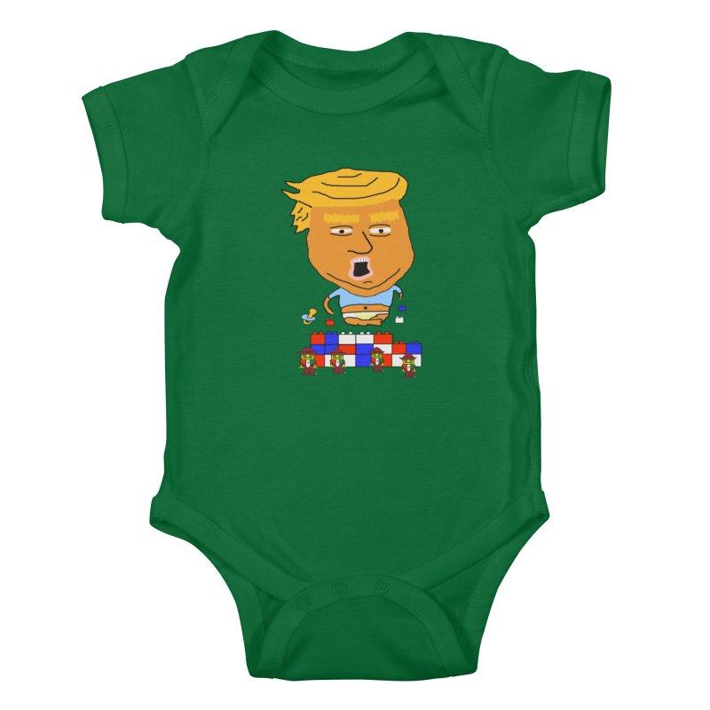 Trump's Wall Kids Baby Bodysuit by Sam Shain's Artist Shop