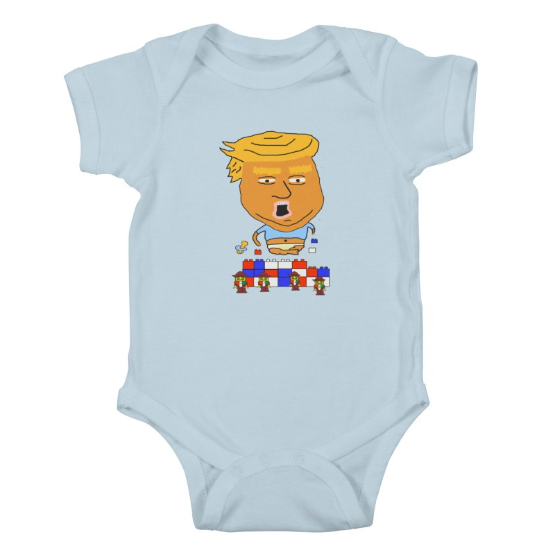 Trump's Wall Kids Baby Bodysuit by Sam Shain's Artist Shop