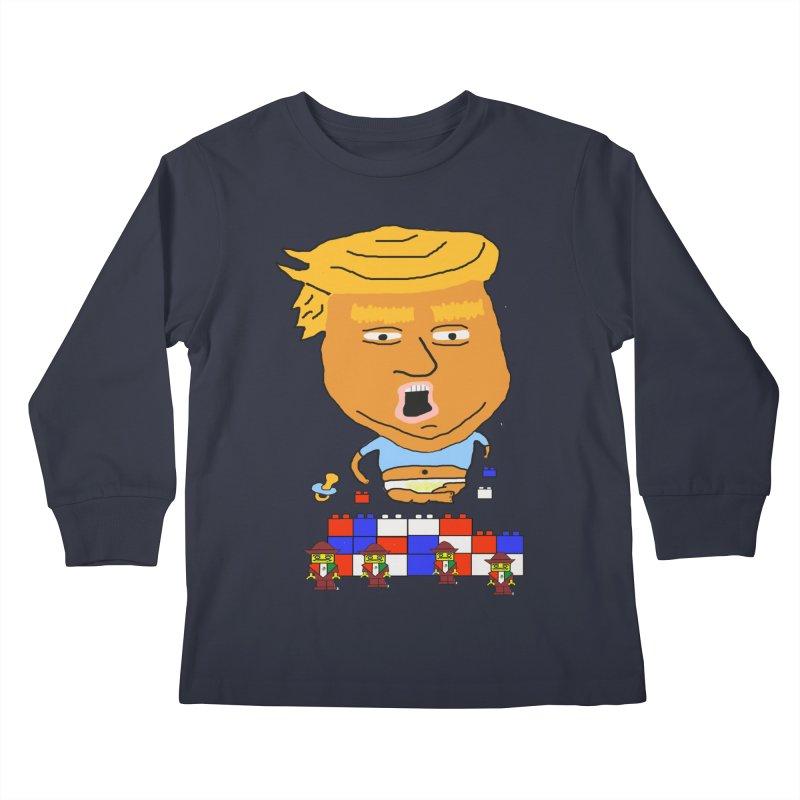 Trump's Wall Kids Longsleeve T-Shirt by Sam Shain's Artist Shop