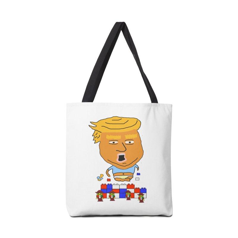 Trump's Wall Accessories Tote Bag Bag by Sam Shain's Artist Shop