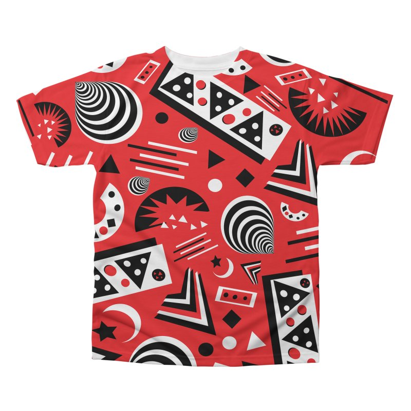 Red Men's Regular All Over Print by Sam Shain's Artist Shop