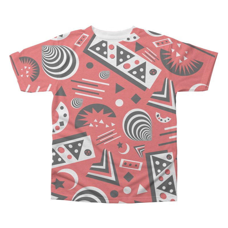 Red Men's Triblend All Over Print by Sam Shain's Artist Shop