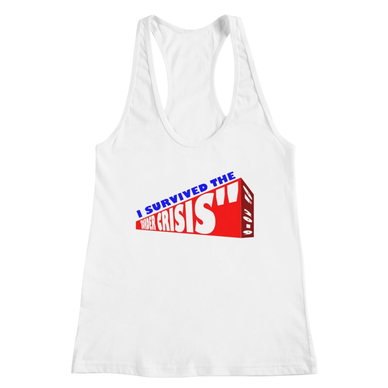 I survived Women's Racerback Tank by Sam Shain's Artist Shop