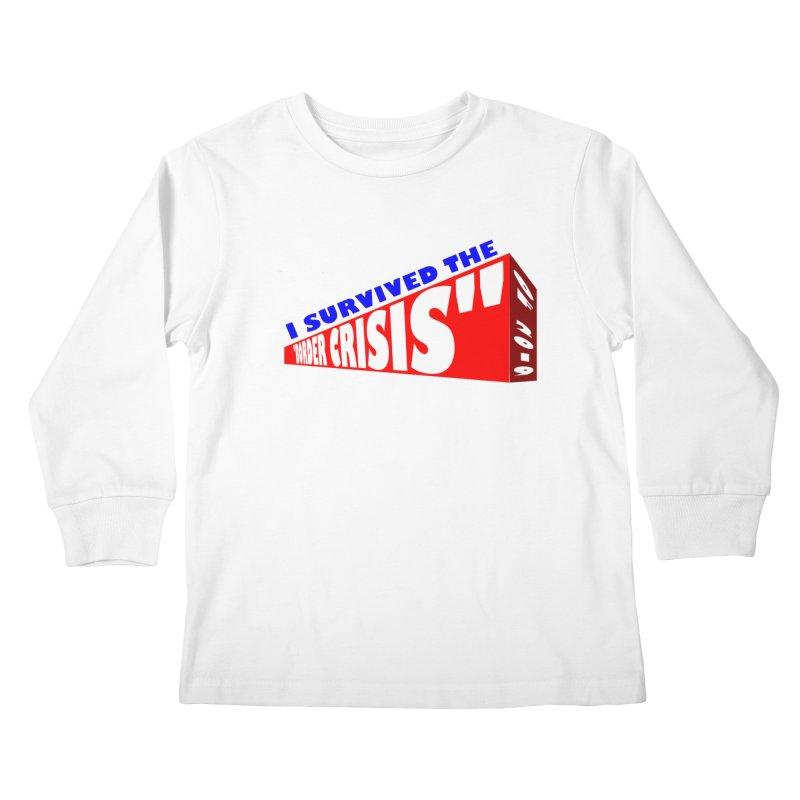 I survived Kids Longsleeve T-Shirt by Sam Shain's Artist Shop