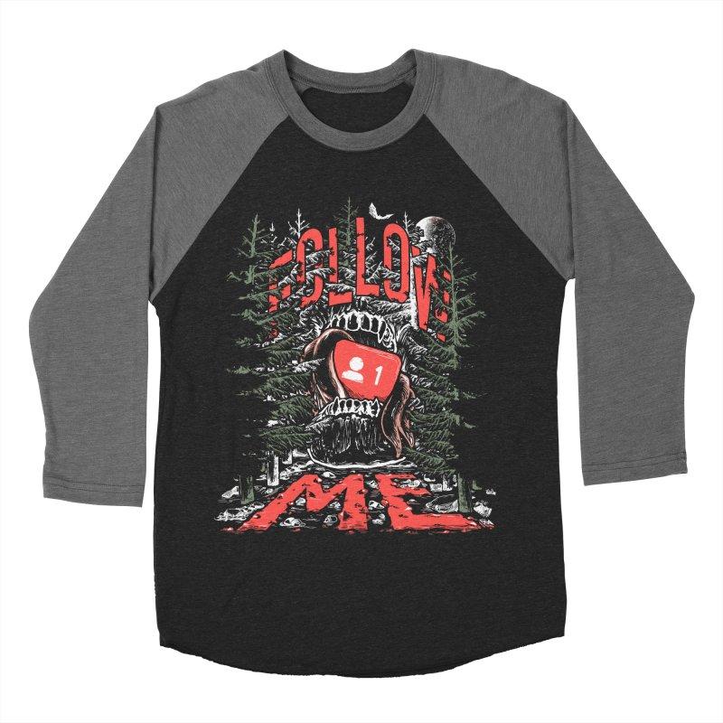 Follow me Men's Baseball Triblend Longsleeve T-Shirt by Saṃsāra LSD