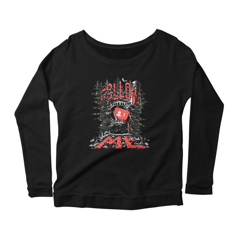 Follow me Women's Scoop Neck Longsleeve T-Shirt by Saṃsāra LSD