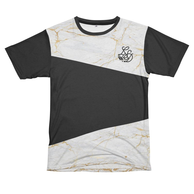 Golden Marble Men's French Terry T-Shirt Cut & Sew by Saṃsāra LSD