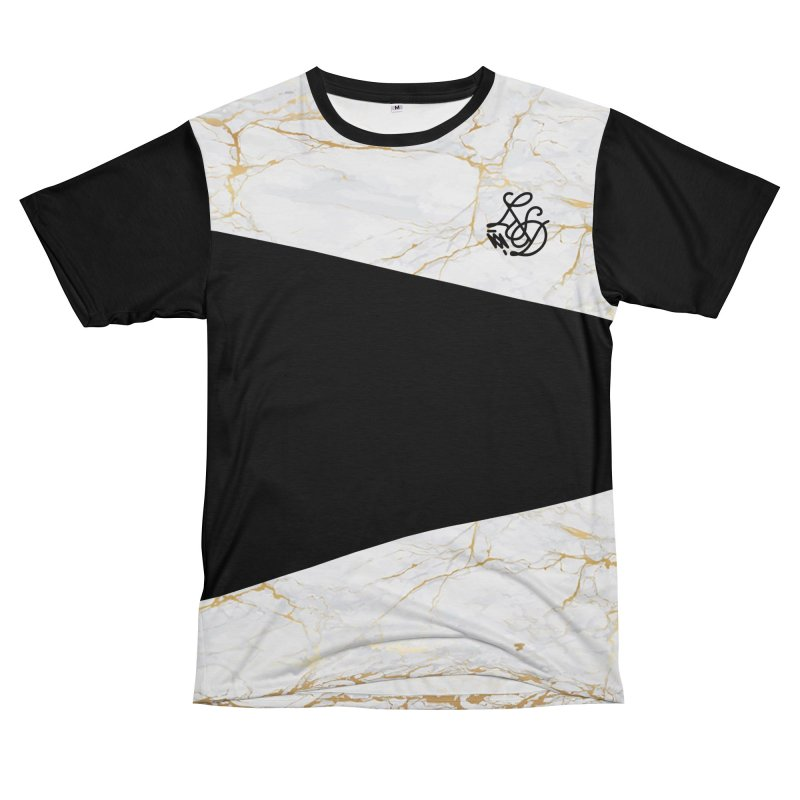 Golden Marble Women's Unisex T-Shirt Cut & Sew by Saṃsāra LSD