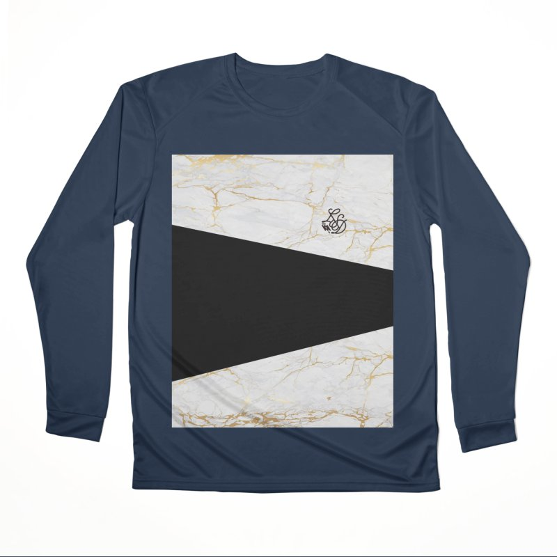 Golden Marble Women's Performance Unisex Longsleeve T-Shirt by Saṃsāra LSD
