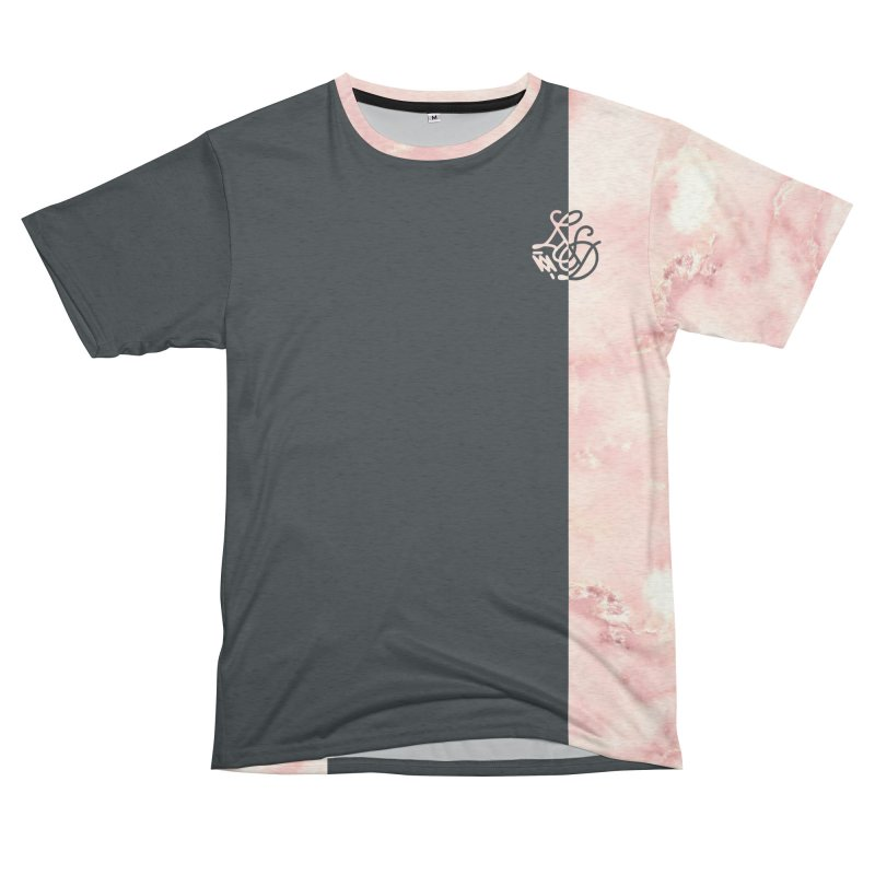 Pink Marble Men's French Terry T-Shirt Cut & Sew by Saṃsāra LSD