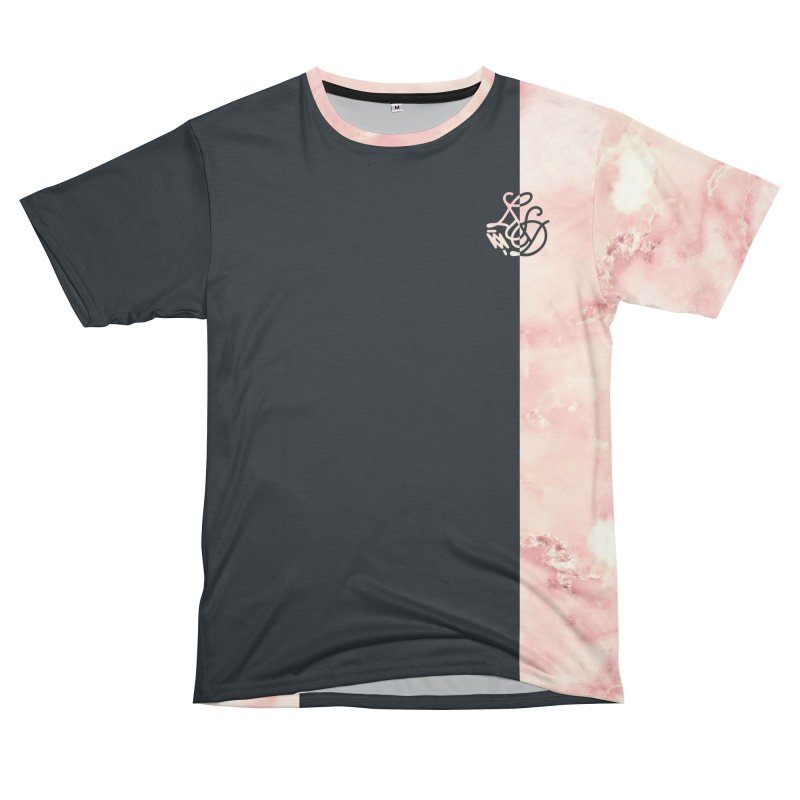 Pink Marble Women's Unisex T-Shirt Cut & Sew by Saṃsāra LSD