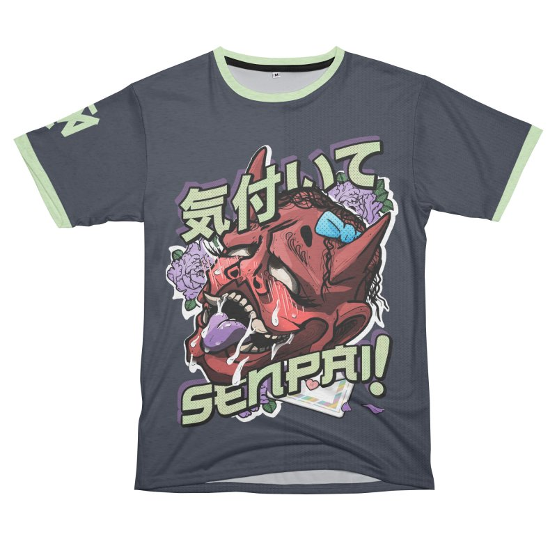 Notice me, senpai! Men's French Terry T-Shirt Cut & Sew by Saṃsāra LSD