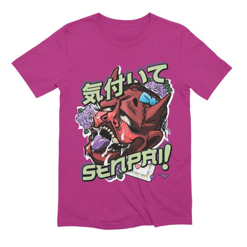 Notice me, senpai! Men's Extra Soft T-Shirt by Saṃsāra LSD