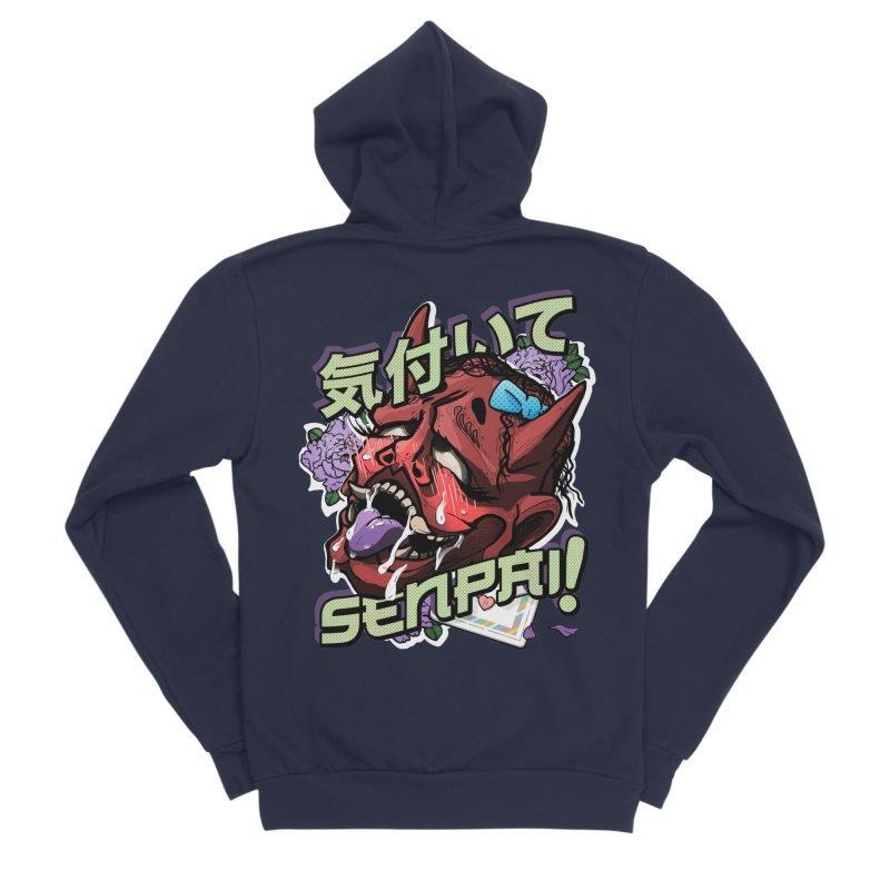 Notice me, senpai! Women's Sponge Fleece Zip-Up Hoody by Saṃsāra LSD