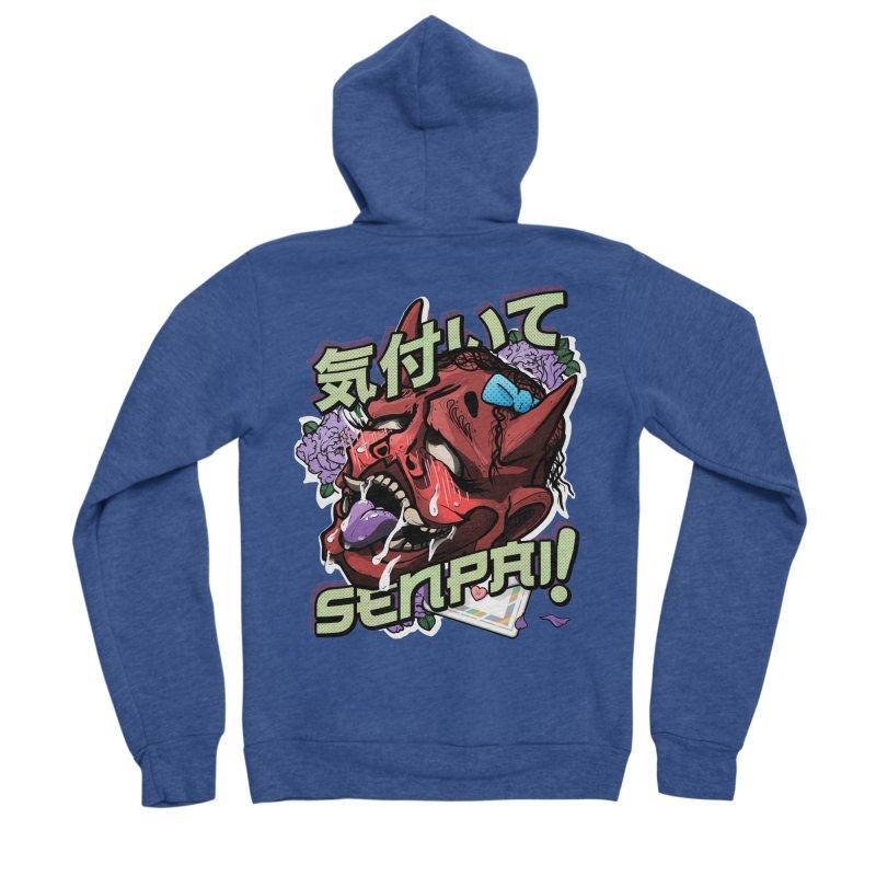 Notice me, senpai! Men's Sponge Fleece Zip-Up Hoody by Saṃsāra LSD