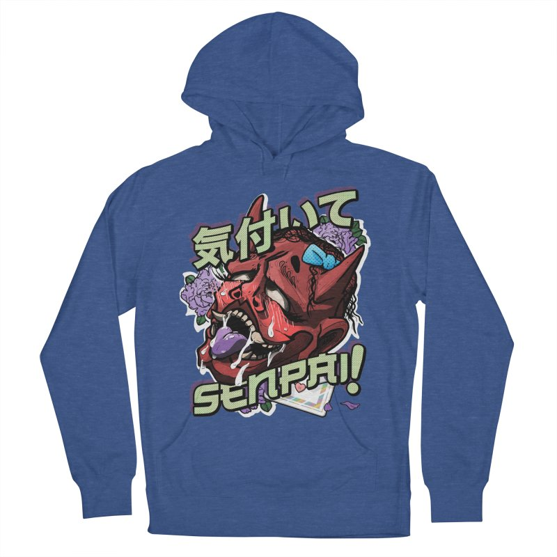 Notice me, senpai! Men's French Terry Pullover Hoody by Saṃsāra LSD