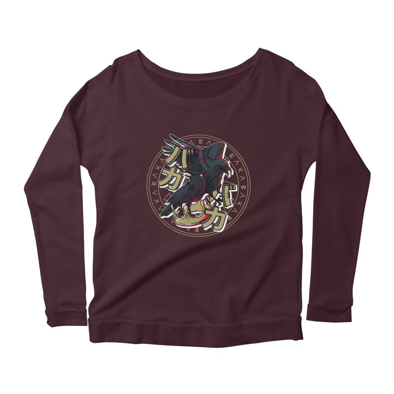 Baka! Women's Scoop Neck Longsleeve T-Shirt by Saṃsāra LSD