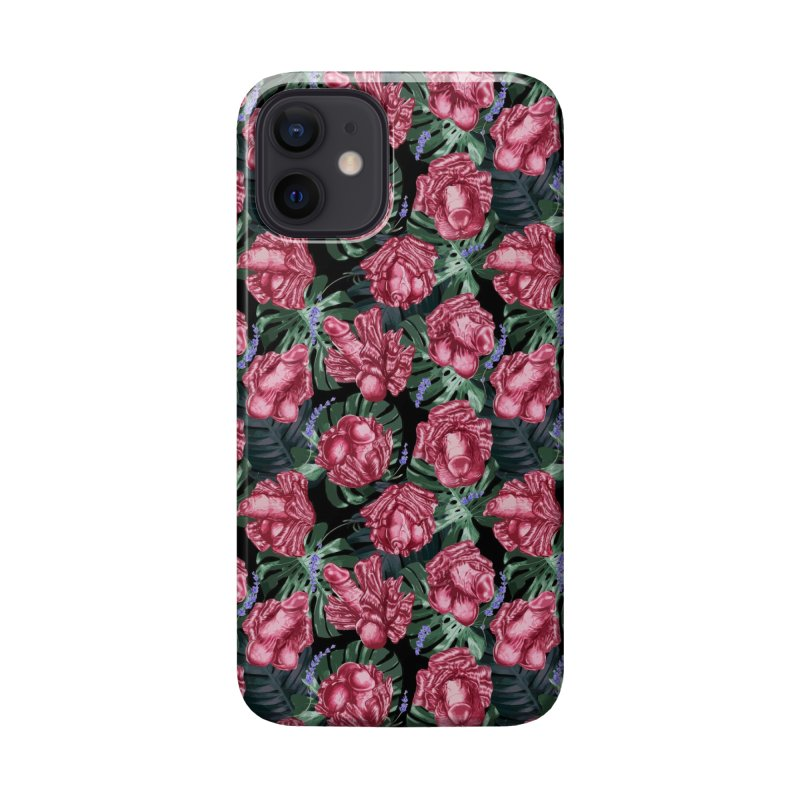 Adam's Eden - Penis flower pattern Accessories Phone Case by Saṃsāra LSD