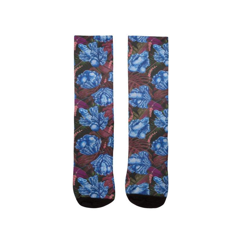 Adam's Eden - Navy dick blossom Men's Socks by Saṃsāra LSD