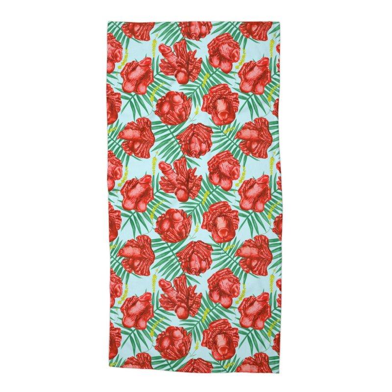Adam's Eden - Summer willy poppy Accessories Beach Towel by Saṃsāra LSD