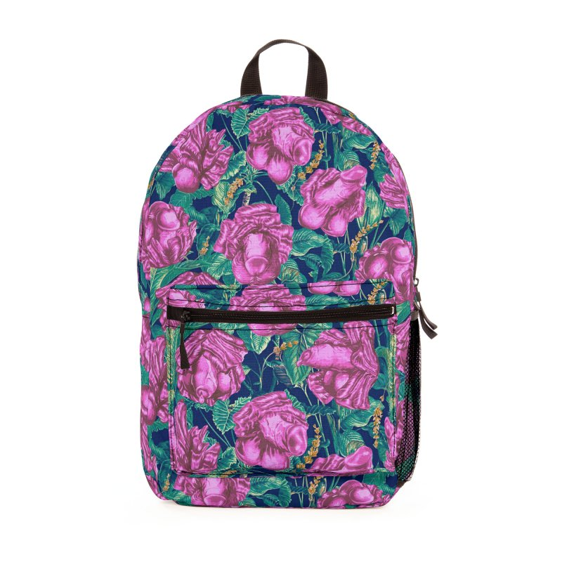Adam's Eden - Tropical cock flowers Accessories Bag by Saṃsāra LSD