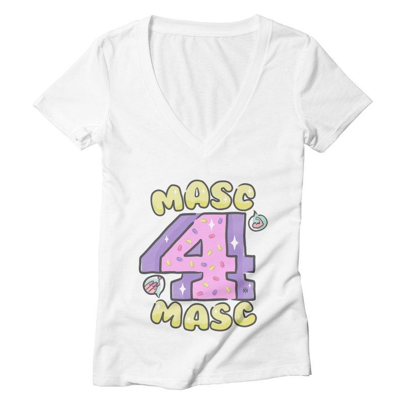 Masc 4 Masc Women's V-Neck by Saṃsāra LSD