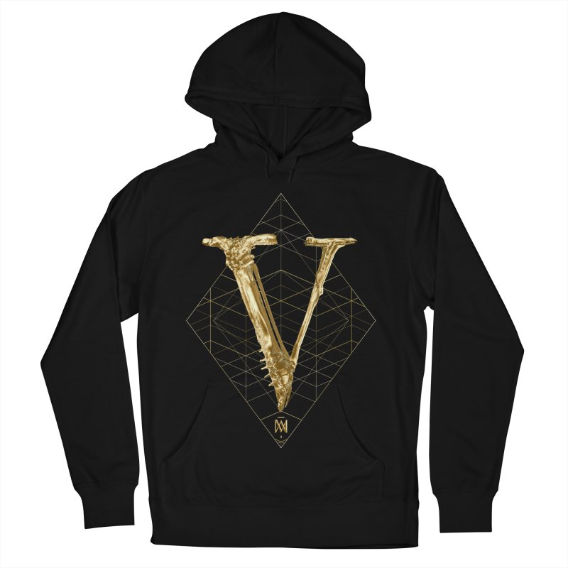 V for Victory Men's French Terry Pullover Hoody by Saṃsāra LSD