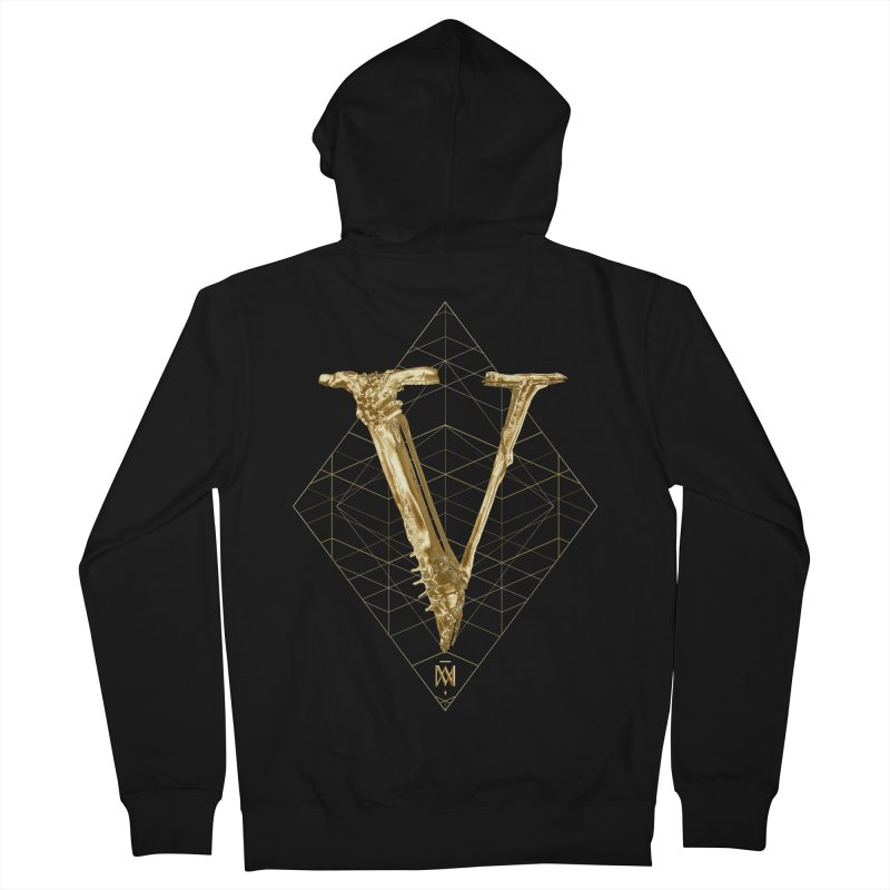 V for Victory Men's French Terry Zip-Up Hoody by Saṃsāra LSD