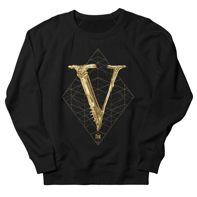 V for Victory Men's French Terry Sweatshirt by Saṃsāra LSD