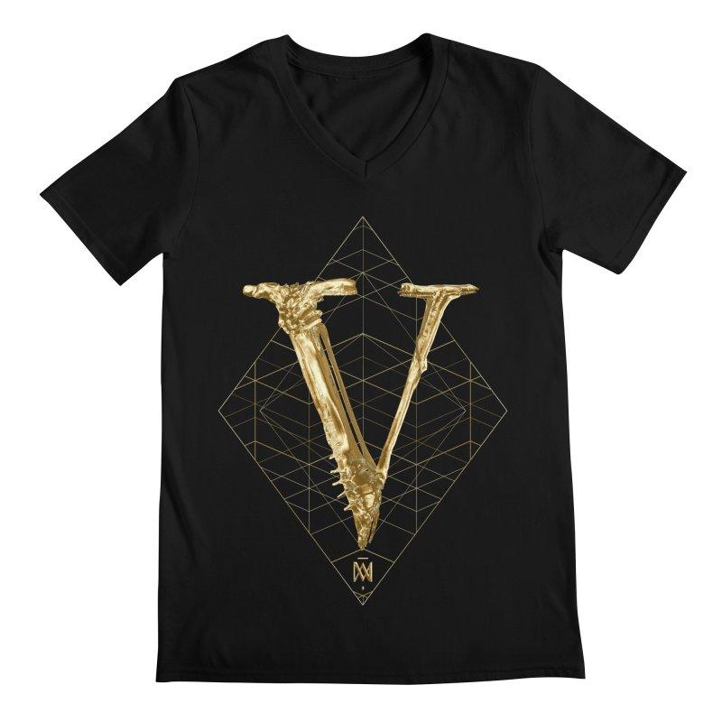 V for Victory Men's Regular V-Neck by Saṃsāra LSD