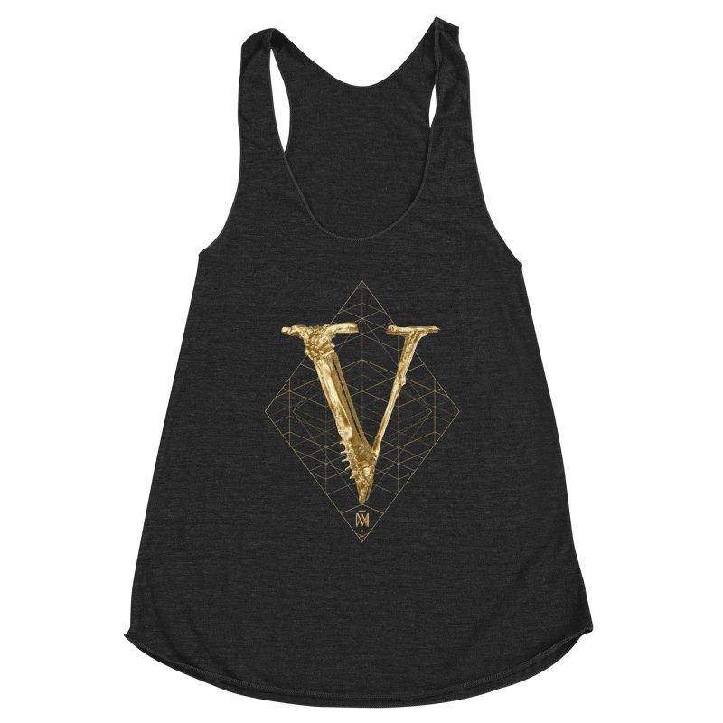 V for Victory Women's Racerback Triblend Tank by Saṃsāra LSD