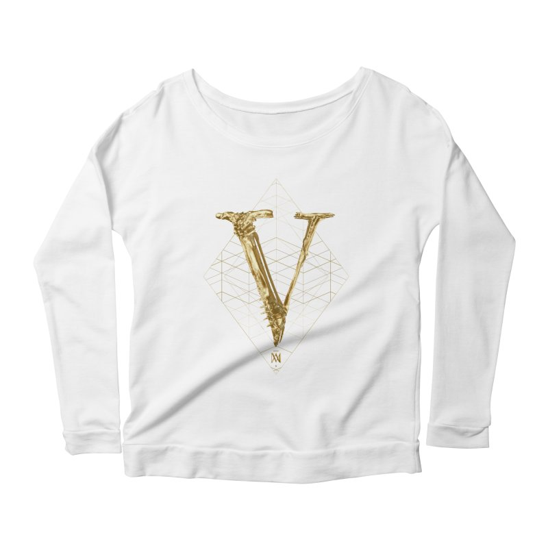 V for Victory Women's Scoop Neck Longsleeve T-Shirt by Saṃsāra LSD