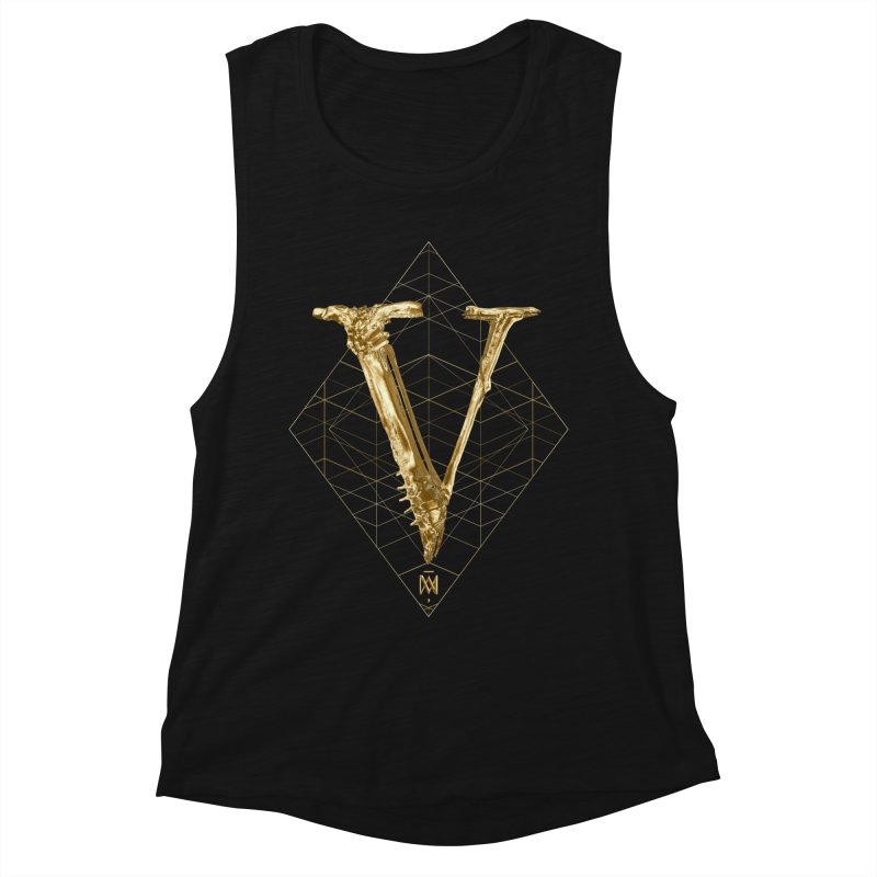 V for Victory Women's Muscle Tank by Saṃsāra LSD