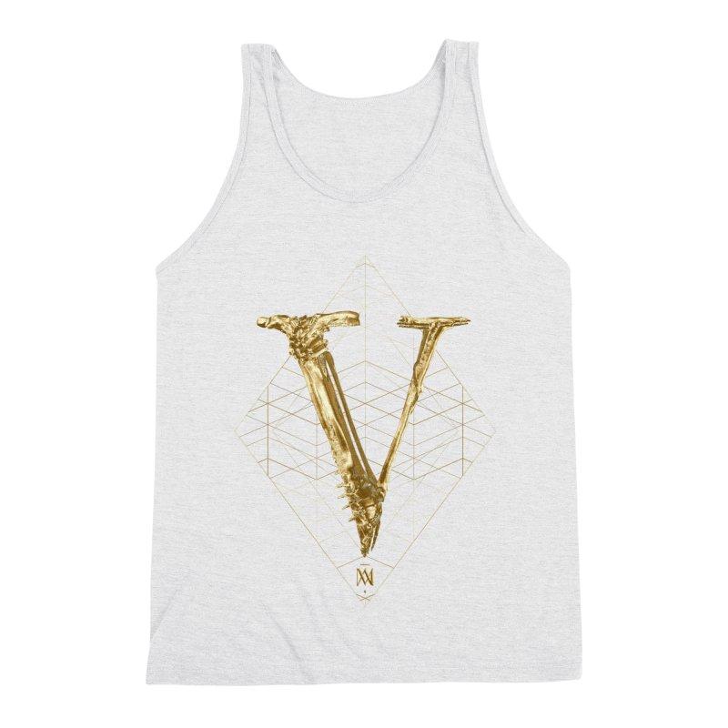 V for Victory Men's Triblend Tank by Saṃsāra LSD