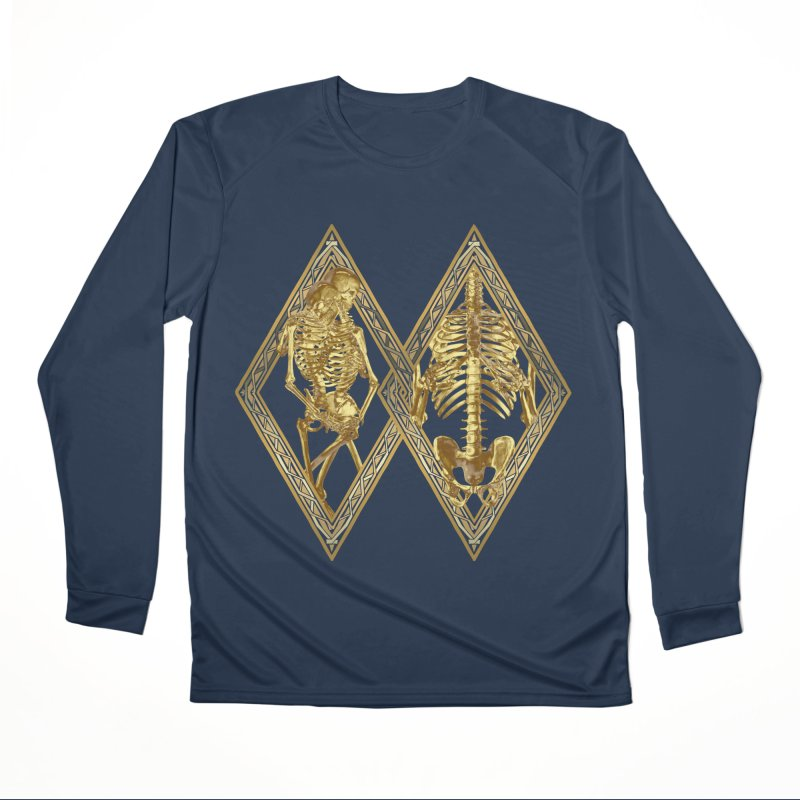 Rhombus Cage Men's Performance Longsleeve T-Shirt by Saṃsāra LSD