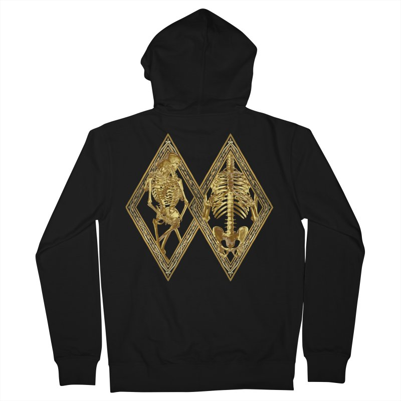 Rhombus Cage Men's French Terry Zip-Up Hoody by Saṃsāra LSD