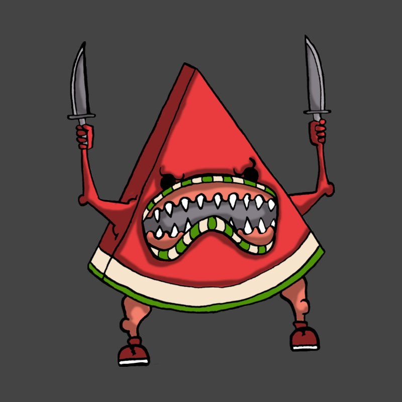 Murderous Melon Men's T-Shirt by Samsartmess's Artist Shop