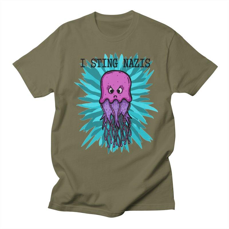 I Sting Nazis Men's T-Shirt by Samsartmess's Artist Shop