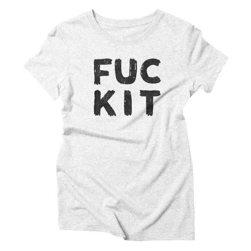 FUCKIT(BLACK INK) Women's Triblend T-shirt by HUMOR TEES